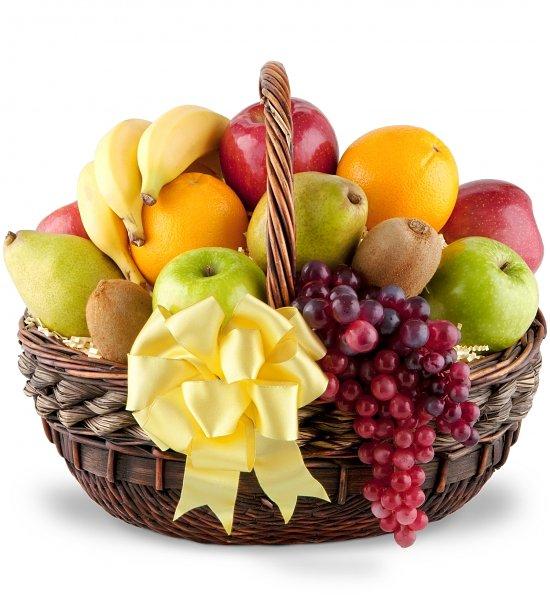 Корзина с фруктами в подарок своими руками фото